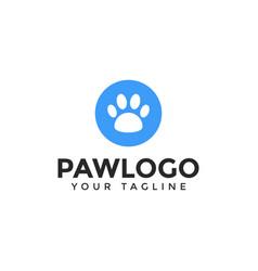 Cat or dog paw print pet logo design template vector