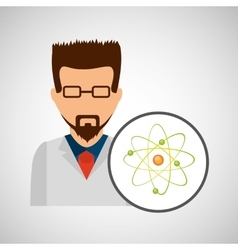 Character scientist chemistry molecular vector