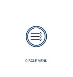 Circle menu concept 2 colored icon simple line vector