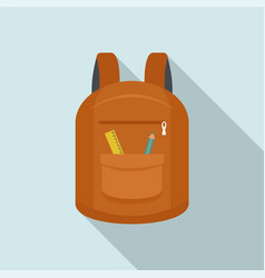 college backpack icon flat style vector image