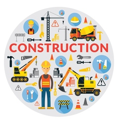 Construction Label vector image