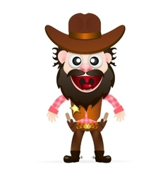 Cool cowboy is waiting for vector
