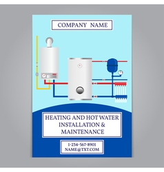 Corporate identity template design Boiler installa vector image