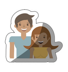 Couple love together family vector