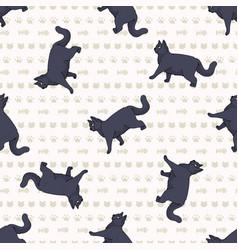 Cute cartoon british shorthair cat seamless vector
