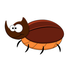 cute cartoon rhinoceros beetle vector image