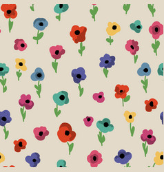 Cute small flowers seamless pattern vector