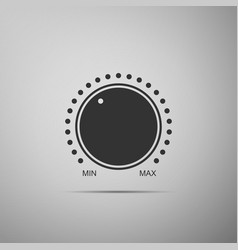 Dial knob level technology settings icon isolated vector