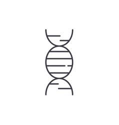 dna line icon concept dna linear vector image
