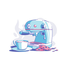 Electrical coffee machine vector