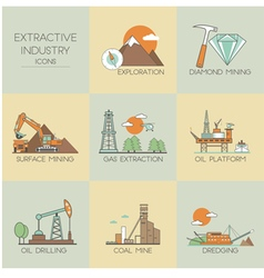 Extractive industry vector