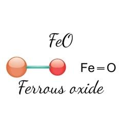 FeO ferrous oxide molecule vector