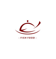Fish food logo symbol vector