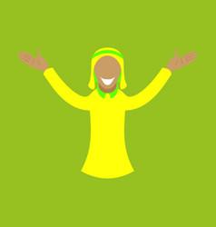 Flat icon on theme arabic business arabic man vector