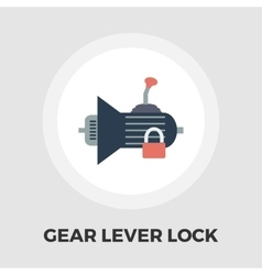 Gear lever lock flat icon vector