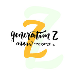 Generation z - internet generation concept new vector