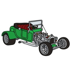 Green hot rod vector