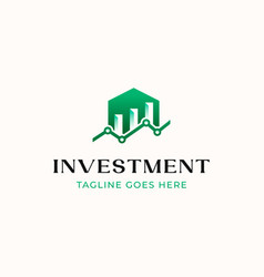 home building chart logo investment logo template vector image