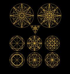 Impossible geometry symbols set vector