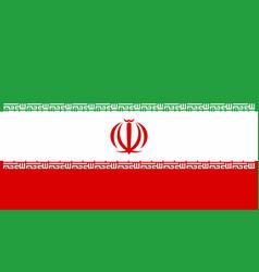 Iranian national flag vector