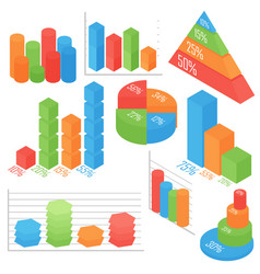 isometric business and vector image