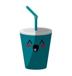 Kawaii soda cup icon image vector