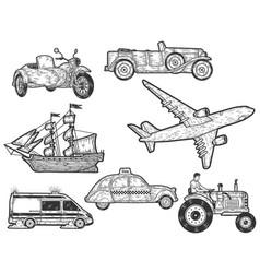 Large set modes transport sketch scratch vector