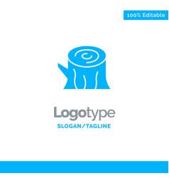 Log wood wooden spring blue solid logo template vector