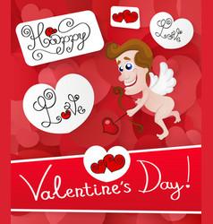 Love cupid valentine s day vector
