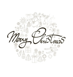 Merry Christmas Winter Holiday greeting card with vector image