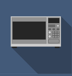 microwave oven in gray with an electronic display vector image
