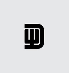 minimalistic symbol premium business logotype wd vector image
