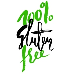 Modern brush lettering Gluten free can be used vector image
