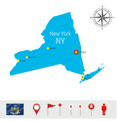 New york map isolated on white background high vector