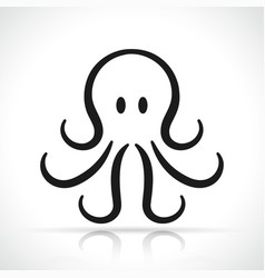 octopus icon design vector image