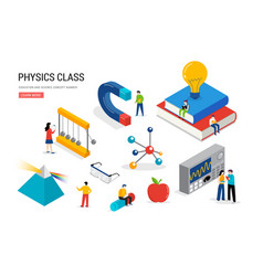 Physics lab and school class science education vector