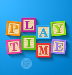 Play Time vector image