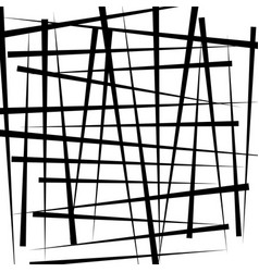 Random intersecting irregular lines - monochrome vector