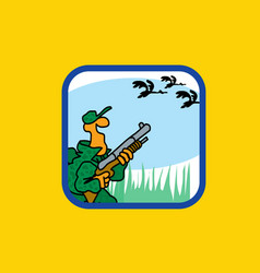 recreation sports and active pastime bird hunting vector image