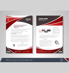 red business brochure vector image