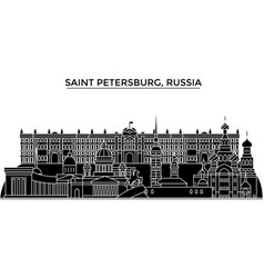 russia saint petersburg architecture urban vector image