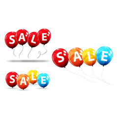 Sale balloon concept of discount special offer vector