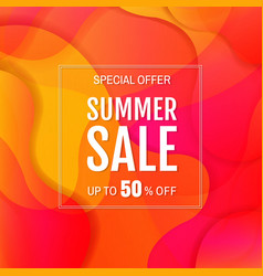 sale banner with colorful bright background vector image