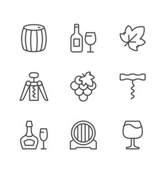 set line icons win vector image