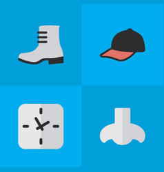 Set of simple equipment icons vector