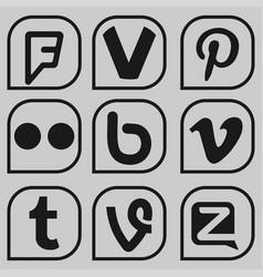 Set social media icons vector