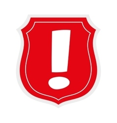 Shield icon Security and warning design vector