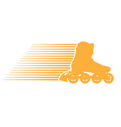 Silhouette of roller skate - speed rollerblade vector