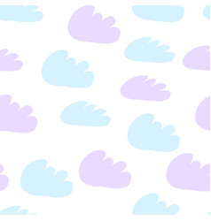 simple seamless pattern with clouds pattern vector image