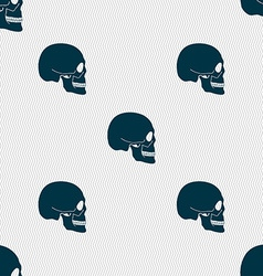 Skull sign Seamless pattern with geometric texture vector image